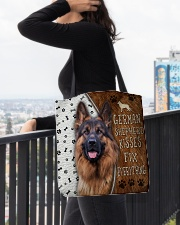 German Shepherd Kisses Fix Everything Bag All-over Tote aos-all-over-tote-lifestyle-front-05