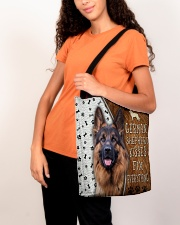 German Shepherd Kisses Fix Everything Bag All-over Tote aos-all-over-tote-lifestyle-front-07