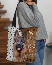 German Shepherd Kisses Fix Everything Bag All-over Tote aos-all-over-tote-lifestyle-front-09