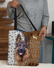 German Shepherd Kisses Fix Everything Bag All-over Tote aos-all-over-tote-lifestyle-front-10