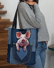 Pig Jean Pocket Tb All-over Tote aos-all-over-tote-lifestyle-front-09
