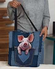 Pig Jean Pocket Tb All-over Tote aos-all-over-tote-lifestyle-front-10