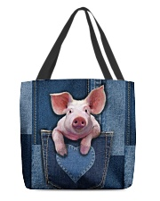 Pig Jean Pocket Tb All-over Tote back