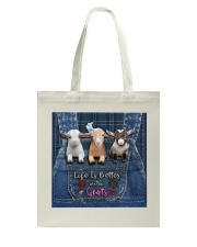 Goat Life Is Better Tote Bag tile