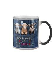 Goat Life Is Better Color Changing Mug tile