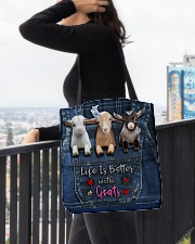 Goat Life Is Better All-over Tote aos-all-over-tote-lifestyle-front-05