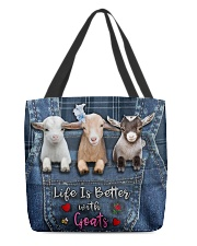 Goat Life Is Better All-over Tote back