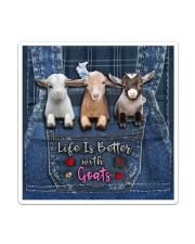 Goat Life Is Better Sticker tile