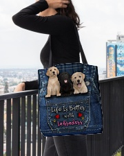 Labrador Life Is Better All-over Tote aos-all-over-tote-lifestyle-front-05