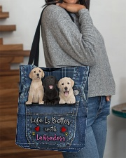 Labrador Life Is Better All-over Tote aos-all-over-tote-lifestyle-front-09