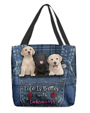 Labrador Life Is Better All-over Tote front