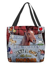 Just A Girl Who Loves Horse  All-over Tote back