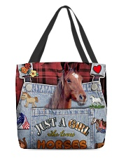 Just A Girl Who Loves Horse  All-over Tote front