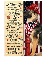 Firefighter German Shepherd I Choose You 11x17 Poster front