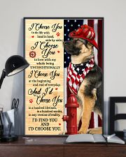 Firefighter German Shepherd I Choose You 11x17 Poster lifestyle-poster-2