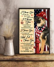 Firefighter German Shepherd I Choose You 11x17 Poster lifestyle-poster-3
