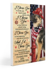 Firefighter German Shepherd I Choose You 20x30 Gallery Wrapped Canvas Prints thumbnail