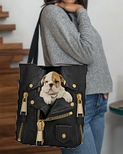 English Bulldog - Jacket Bag -Tote All-over Tote aos-all-over-tote-lifestyle-front-09