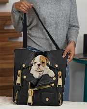 English Bulldog - Jacket Bag -Tote All-over Tote aos-all-over-tote-lifestyle-front-10