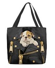 English Bulldog - Jacket Bag -Tote All-over Tote back