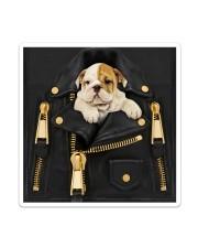 English Bulldog - Jacket Bag -Tote Sticker - Single (Vertical) thumbnail