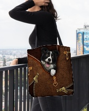 Border Collie  All-over Tote aos-all-over-tote-lifestyle-front-05