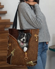 Border Collie  All-over Tote aos-all-over-tote-lifestyle-front-09