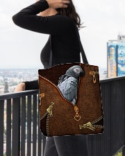 African Gray Parrot Tote Bag All-over Tote aos-all-over-tote-lifestyle-front-05
