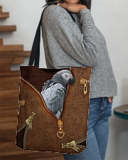 African Gray Parrot Tote Bag All-over Tote aos-all-over-tote-lifestyle-front-09