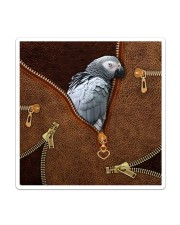 African Gray Parrot Tote Bag Sticker - Single (Vertical) thumbnail