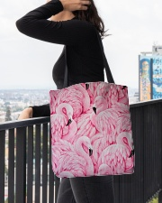 Flamingo Lover All-over Tote aos-all-over-tote-lifestyle-front-05