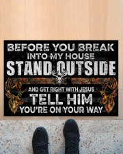 "Hunting Jesus Before You Break Into My House Doormat 22.5"" x 15""  aos-doormat-22-5x15-lifestyle-front-10"