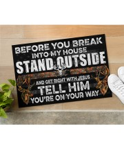 "Hunting Jesus Before You Break Into My House Doormat 22.5"" x 15""  aos-doormat-22-5x15-lifestyle-front-11"
