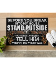 "Hunting Jesus Before You Break Into My House Doormat 22.5"" x 15""  aos-doormat-22-5x15-lifestyle-front-12"