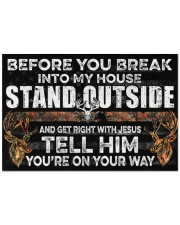 "Hunting Jesus Before You Break Into My House Doormat 22.5"" x 15""  front"