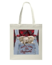 Elephant Just A Girl Tote Bag tile