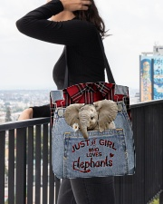 Elephant Just A Girl All-over Tote aos-all-over-tote-lifestyle-front-05