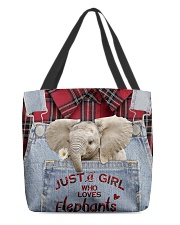 Elephant Just A Girl All-over Tote back