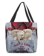 Elephant Just A Girl All-over Tote front