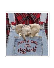 Elephant Just A Girl Sticker - Single (Vertical) thumbnail