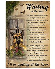 German Shepherd Waiting At The Door Poster 11x17 Poster front