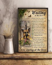German Shepherd Waiting At The Door Poster 11x17 Poster lifestyle-poster-3