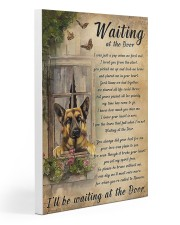 German Shepherd Waiting At The Door Poster 20x30 Gallery Wrapped Canvas Prints thumbnail