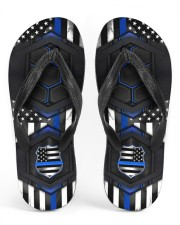 Police Blue Flag Pattern Flip Flops Men's Flip Flops thumbnail