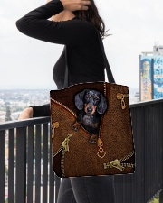 Dachshund  All-over Tote aos-all-over-tote-lifestyle-front-05