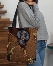 Dachshund  All-over Tote aos-all-over-tote-lifestyle-front-09