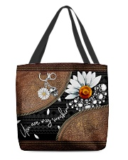 Daisy Skull You Are My Sunshine All-over Tote front