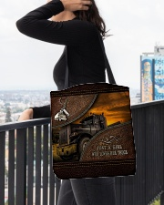 A Girl Who Loves Her Truck All-over Tote aos-all-over-tote-lifestyle-front-05