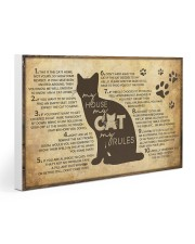 My Cat's Rules 30x20 Gallery Wrapped Canvas Prints thumbnail