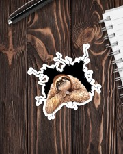 Sloth Crack Sticker - Single (Vertical) aos-sticker-single-vertical-lifestyle-front-05